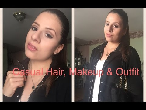 Get Ready With Me/Casual Hair,Makeup & Outfit