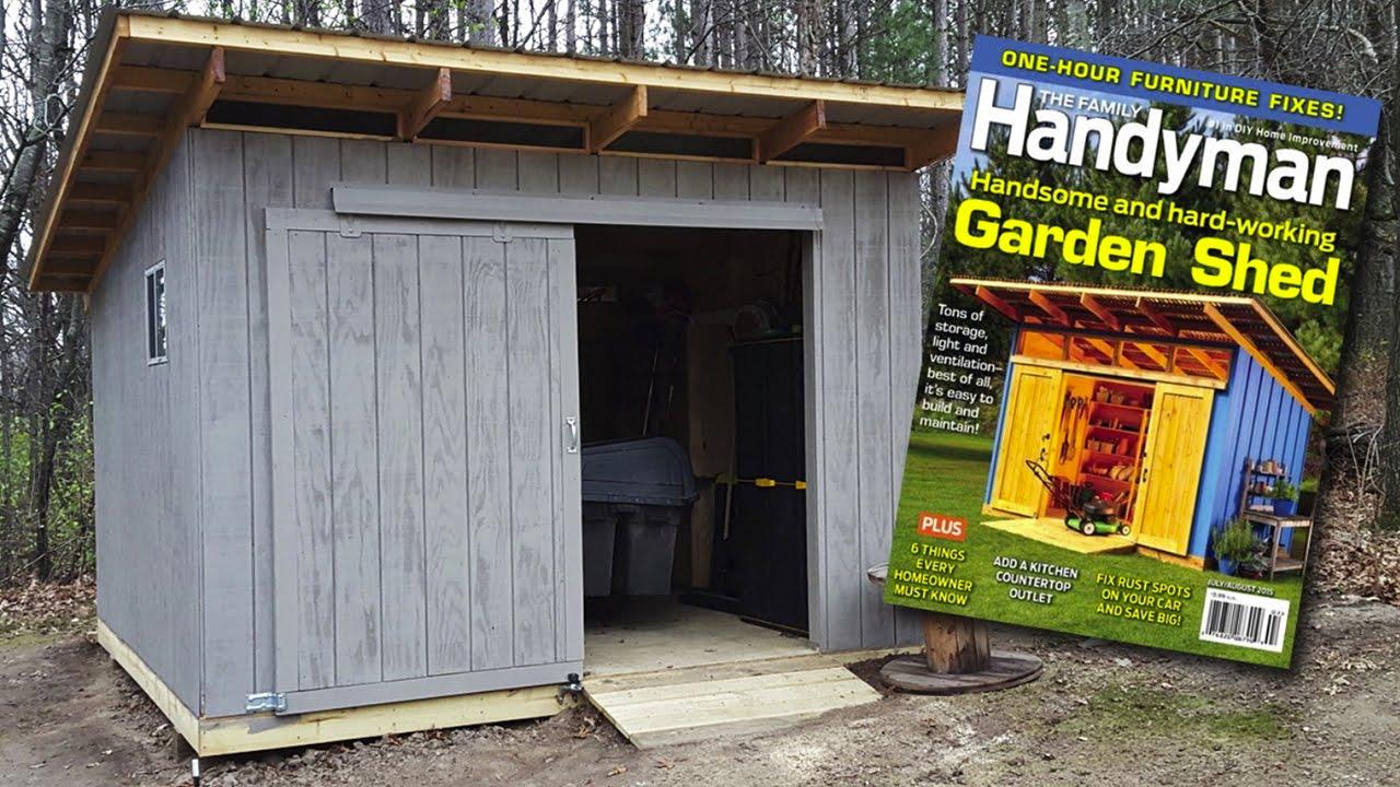 2015 Family Handyman Magazine Shed Build Time Lapse