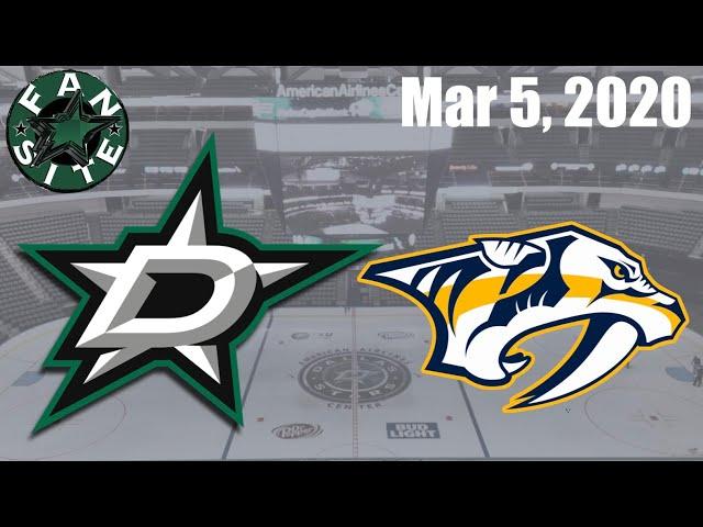 Dallas Stars @ Nashville Predators | Mar 5 2020