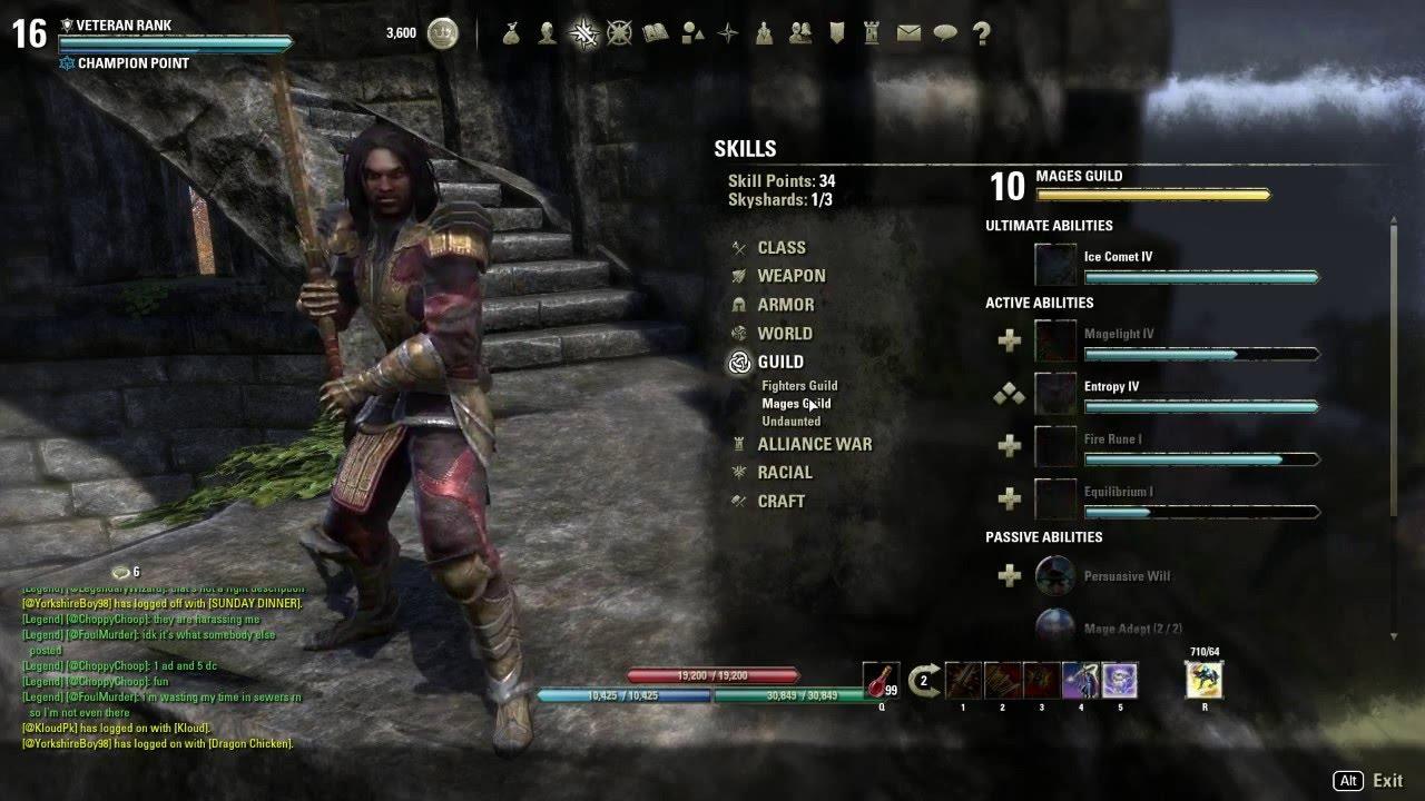 Stamina Sorc Builds For Elder Scrolls Online