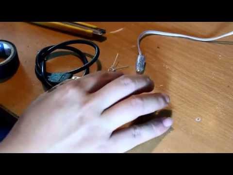 Cách làm đèn bàn đơn giản bằng đèn led sử dụng nguồn USB