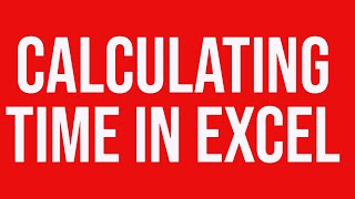 calculating time in ms excel
