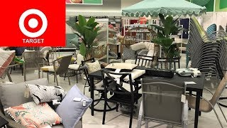 TARGET OUTDOOR PATIO FURNITURE SUMMER HOME DECOR SHOP WITH ME SHOPPING STORE WALK THROUGH 4K