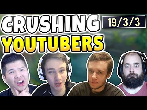 DESTROYING FAMOUS LEAGUE YOUTUBERS! FT. REDMERCY, PANTS, SRO, GBAY99, GAMING CURIOS