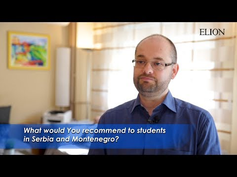 Dr. Alexander Fink_What would You recommend to students in Serbia and Montenegro?