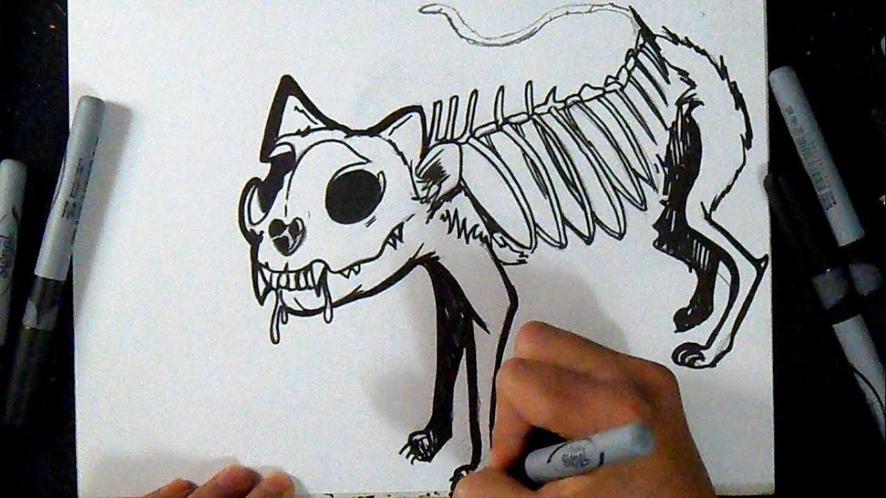 C mo dibujar un gato zombie graffiti youtube - Comment dessiner un zombie ...
