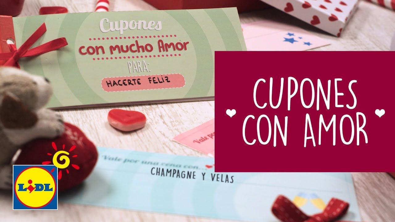Cupones Con Mucho Amor - Manualidades DIY San Valentín - YouTube