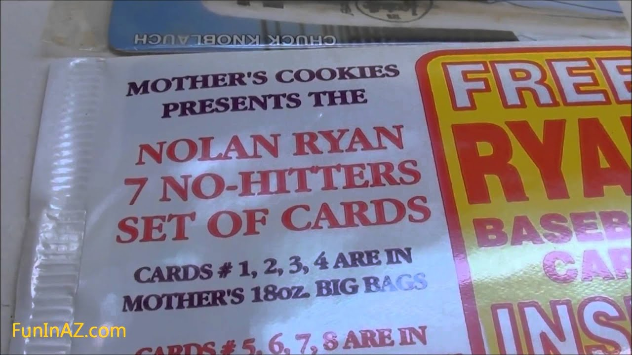 Vintage Baseball Cards From Mothers Cookies Nolan Ryan No Hitter Cards