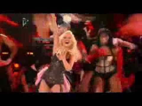 Christina Aguilera hitting the