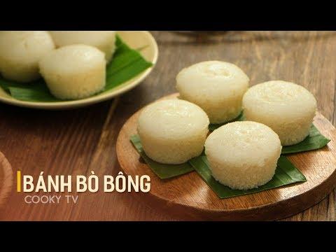 #CookyVN- Cách làm BÁNH BÒ BÔNG cốt dừa thơm mùi lá dứa tại nhà – Cooky TV