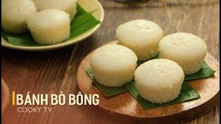 #CookyVN- Cách làm BÁNH BÒ BÔNG cốt dừa thơm mùi lá dứa tại nhà - Cooky TV