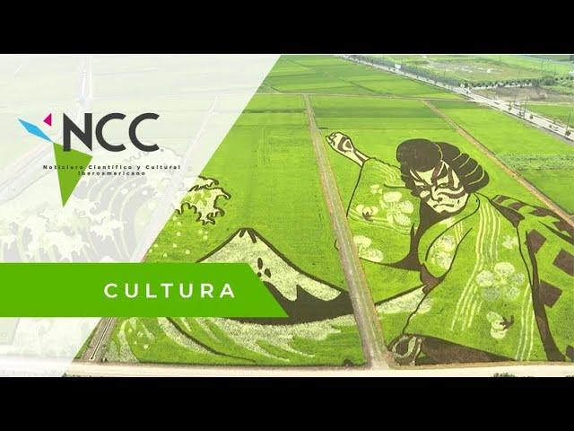 Japón lleva el arte a sus campos de arroz