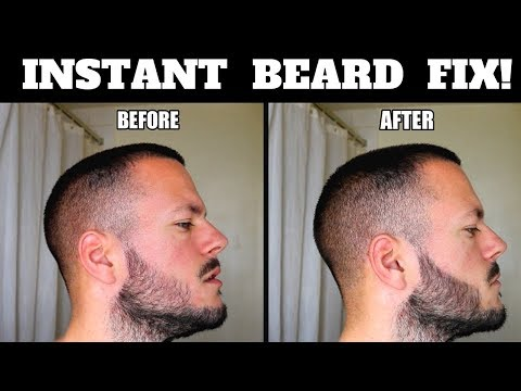 How To Make Your BEARD LOOK THICKER/ FULLER with a china pencil