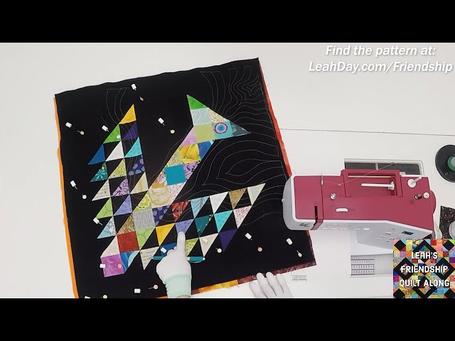 How to Quilt a Tree of Life Block with Undulation Quilting Design