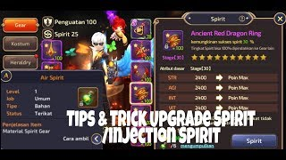 Dragon Nest M - Tips & Trick upgrade Spirit / Injection spirit