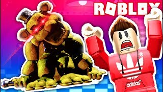 ESCAPE THE EVIL GOLDEN FREDDY IN ROBLOX! (Roblox RedHatter)