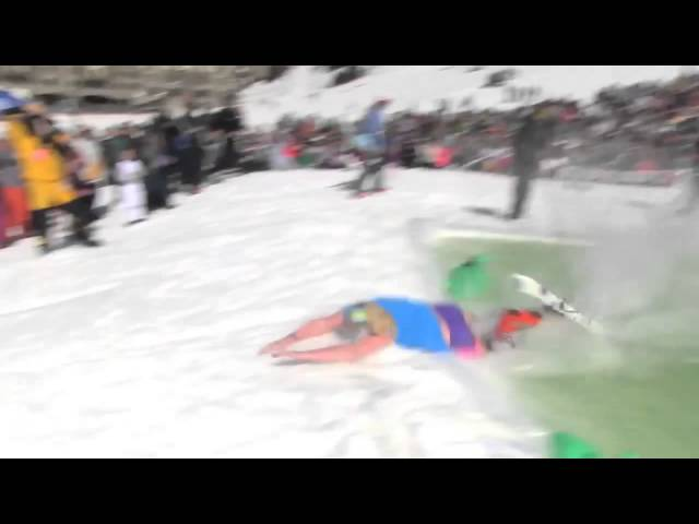 Jerry Getting Sendy at the Pond Skim