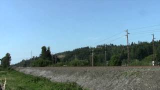 Sounder Commuter Rail Action at Sumner, WA 7-31-13