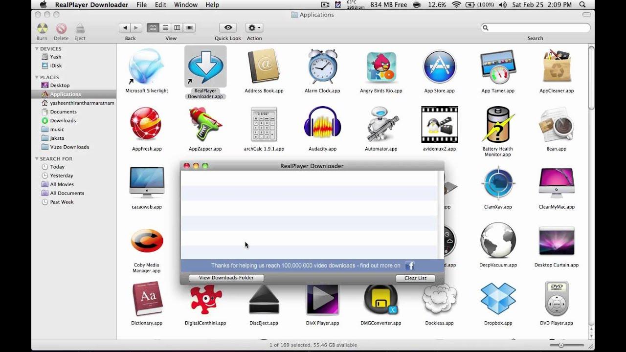 Realplayer downloader mac not working