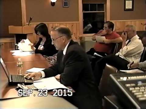 Tewksbury, MA: Finance Committee Public Meeting: September, 23, 2015: Part 1 of 4