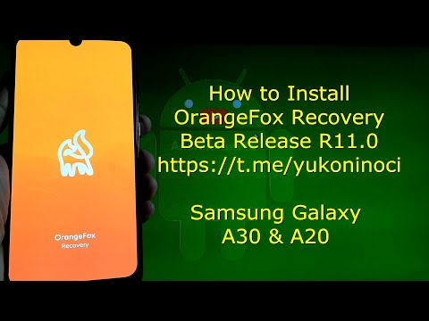 How to Install OrangeFox Recovery for Samsung Galaxy A30 / A20 Beta Releases
