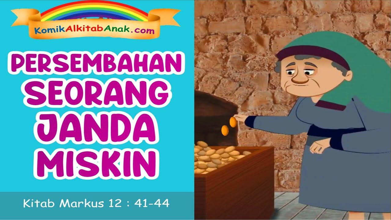 Komik Persembahan Seorang Janda Miskin Komik Alkitab Anak Kitab Markus 12 Ayat 41 44 Youtube