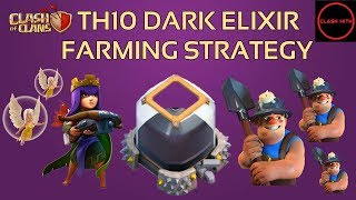 TH10 Dark Elixir Farming Startegy - MASS MINERs with QUEEN WALK | Clash of Clans