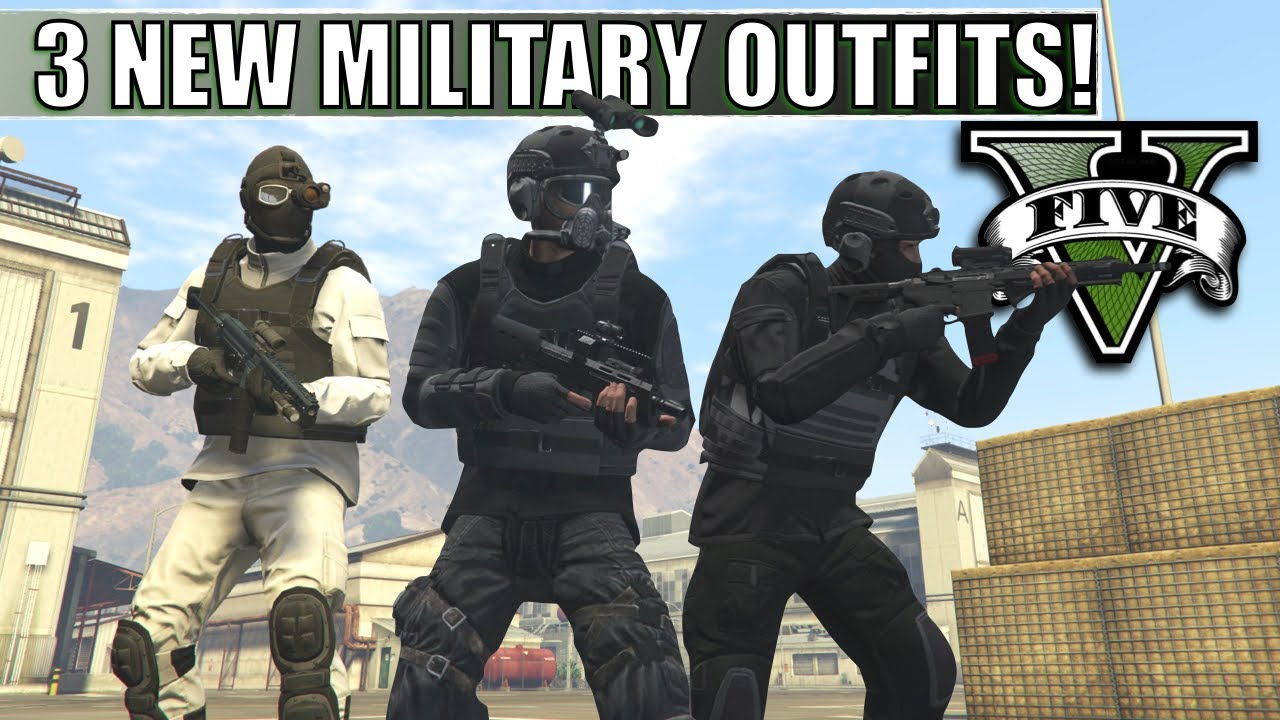 GTA V - 3 NEW Military Style Outfits | Night Terror, E.R.T., Cold Front | Top Custom Outfits!