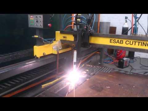Cutting Test on Mild Steel with ESAB CNC Plasma/Gas Profile Cutter
