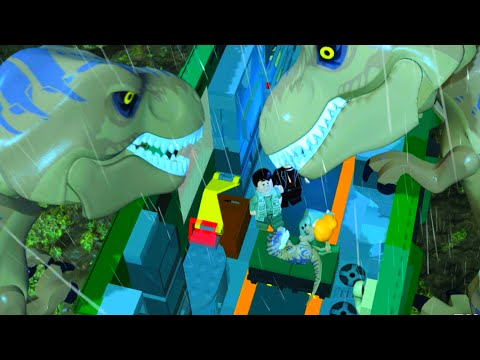 LEGO Jurassic World's T. Rex Destroys the Mobile Command Center