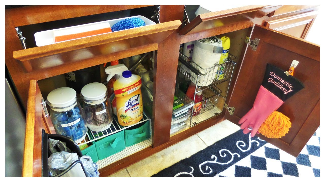Kitchen Sink Organizer Ideas Kitchen Sink Organization Ideas  Youtube