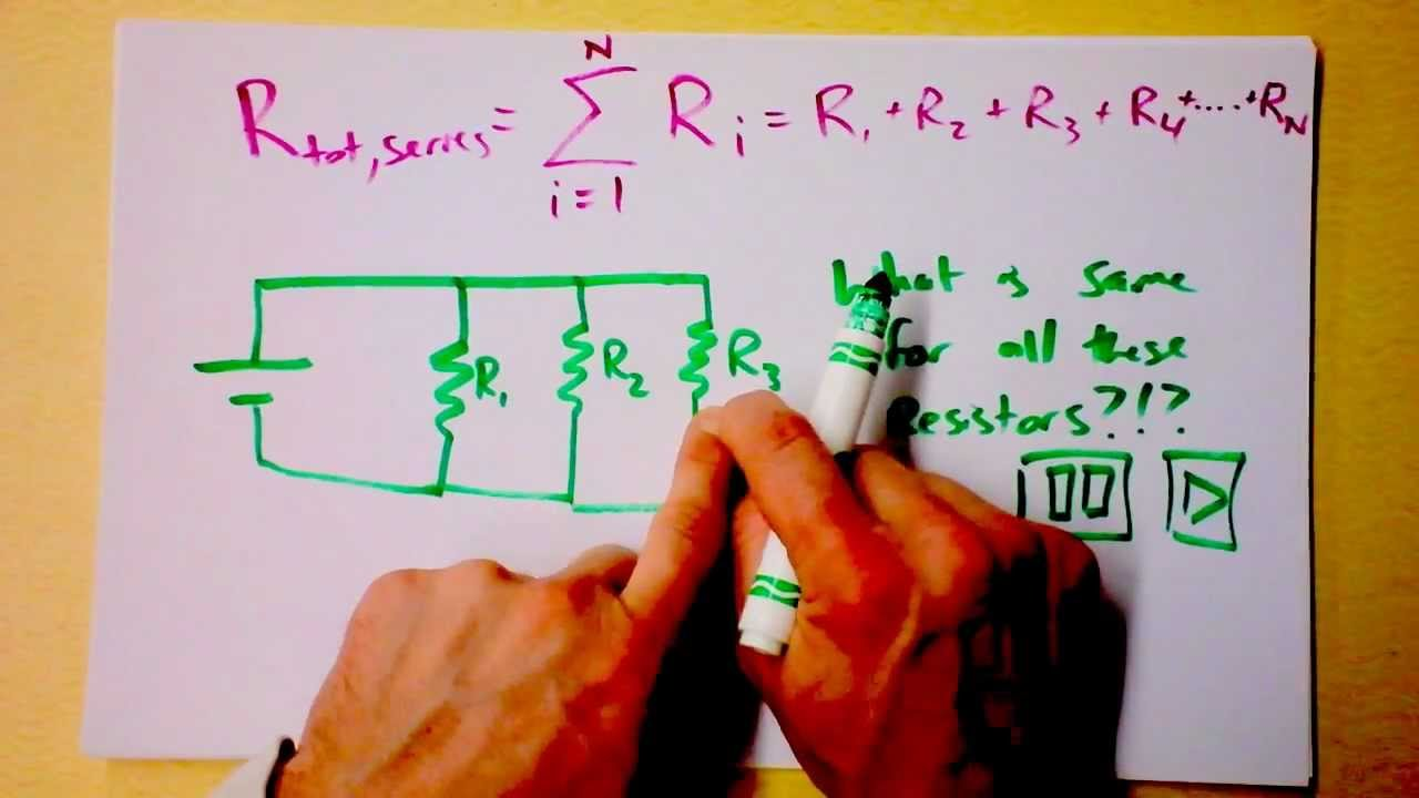 Series And Parallel Dc Circuits Intro Equivalent Resistances Of Finding Resistance In A Circuit Youtube Premium