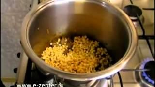 Гороховая каша с мясом видео рецепт