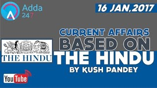 CURRENT AFFAIRS BASED ON THE HINDU