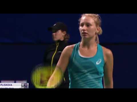 Highlights tennis wta Moscow Open: Kr Pliskova vs Gavrilova -Gavrilova knocks out Kristyna Pliskova