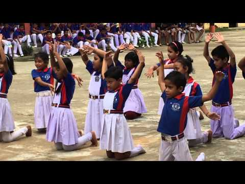 Vande Mataram !! Lil kids performance @69th Independence Day in st. Xavier's school assembly ground