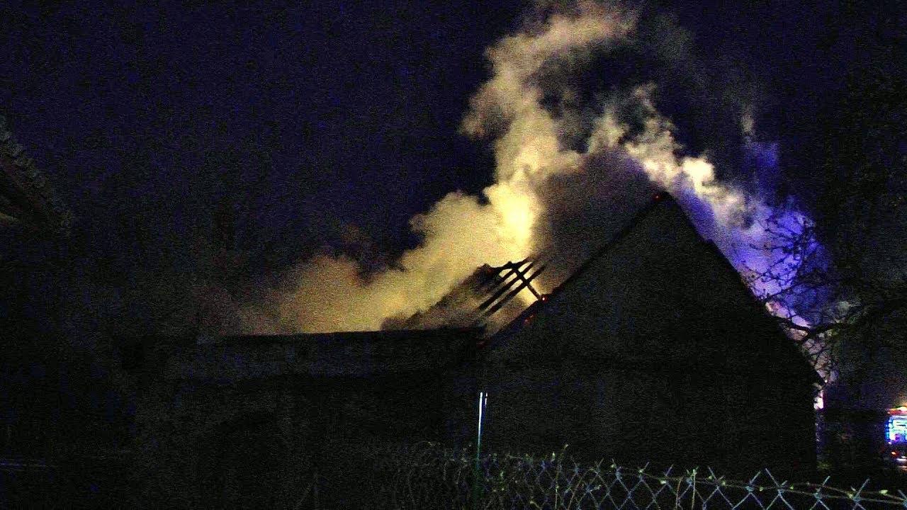 Włóki, pożar stodoły zwiastun