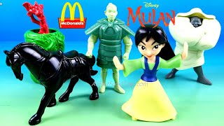 DISNEY PRINCESS MULAN McDonald's happy meal toys 2021 limited edition 1998 set 4 collection review
