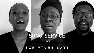 Nothing but the Blood / Power in the Blood worship medley - Song Service with Scripture Says
