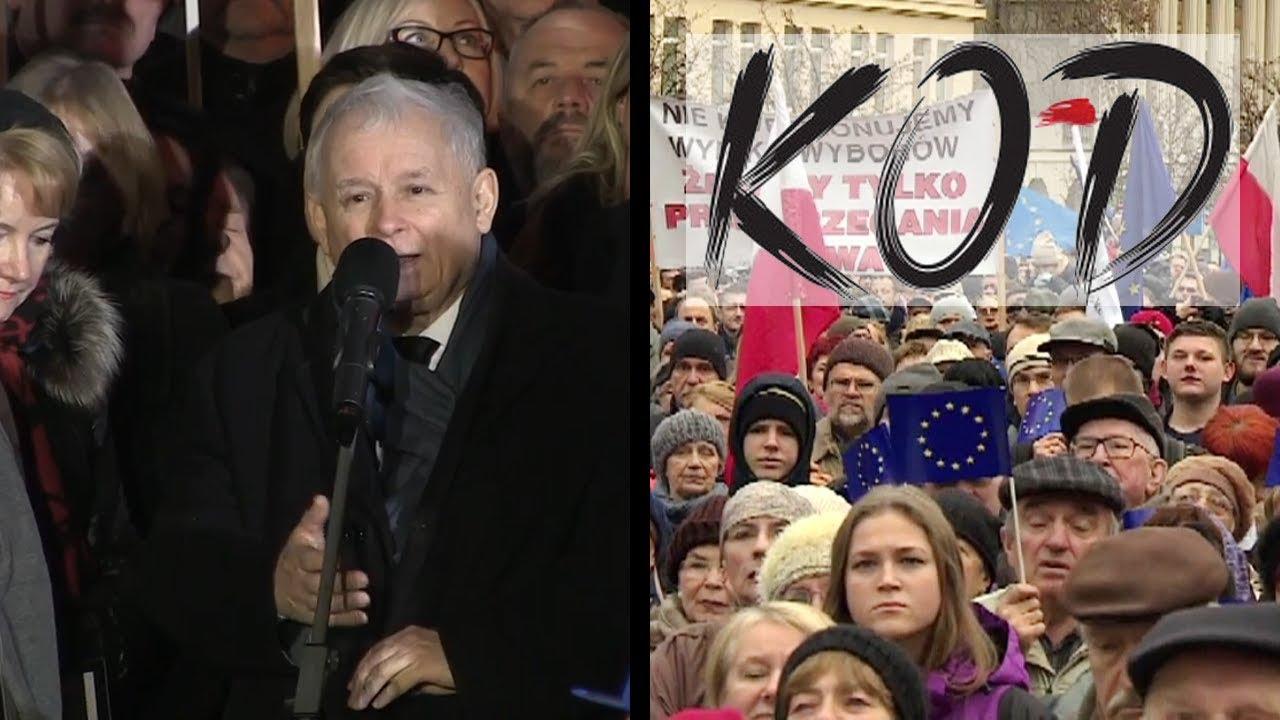 """Jarosław Kaczyński w kapitalny sposób określa """"obrońców demokracji"""""""