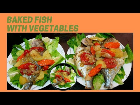 How To Cook Fish L Baked Sea Bream Fish L Healthy Recipe