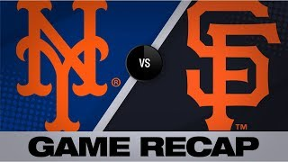 Smith, Alonso power Mets past Giants | Mets-Giants Game Highlights 7/20/19