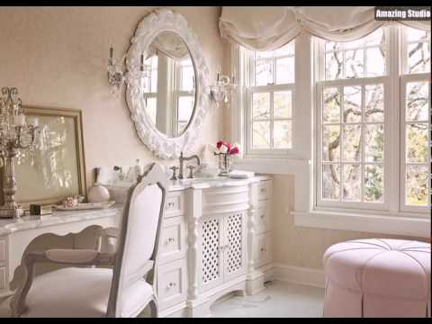 hellrosa ist ein perfektes hue for the shabby chic badezimmer youtube. Black Bedroom Furniture Sets. Home Design Ideas