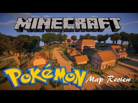 Minecraft Map Review! | Kanto Pokemon World by Eisenbahn!