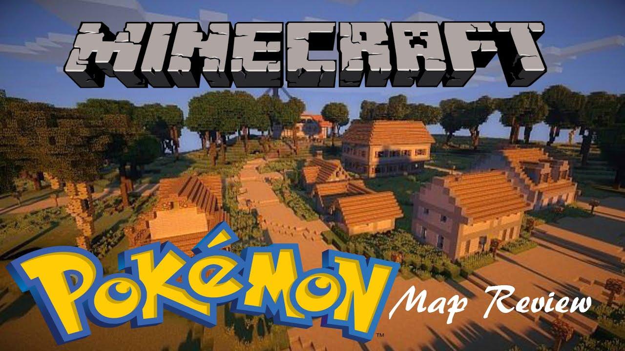 Minecraft Map Review! | Kanto Pokemon World by Eisenbahn! - YouTube