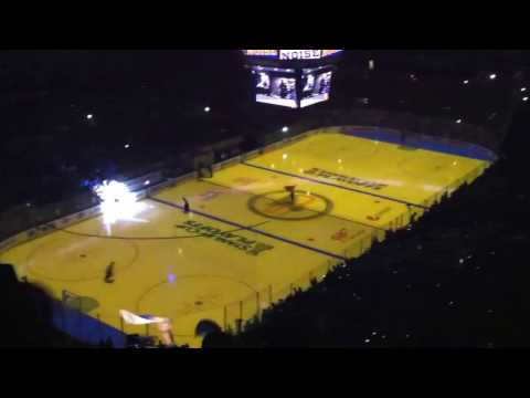 Blues pre-game ice light show - NHL playoffs 2017