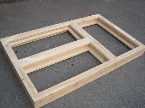 Как сделать деревянную раму для окна своими руками видео