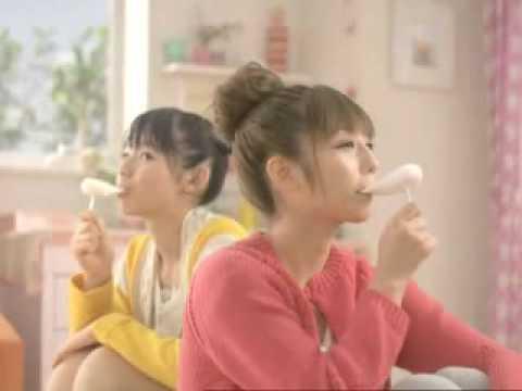 小倉優子 雪見だいふく CM スチル画像。CM動画を再生できます。