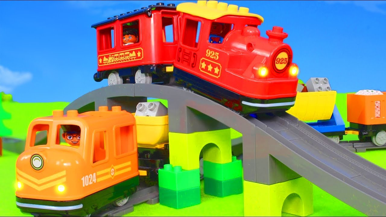 Fire Truck Trains Tractor Police Cars Excavator