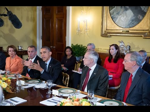 President Obama Meets with His Cabinet